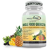 Quercetin 500mg with Bromelain Supplement, Bioactive Phytosome Complex, Pure Organic Whole Food Seasonal Support, Healthy Inflammatory Response, Antioxidant, 20X Absorption & Bioavailability-120 Caps