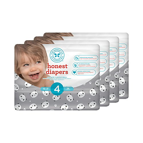 Honest Baby Diapers, Pandas, Size 4 (116 Count)