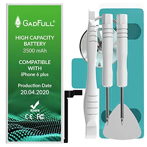 GadFull Batteria ad Alta Capacità compatibile con iPhone 6+ (Plus) | 2020 Data di produzione | incl. Set di riparazione manuale & Kit strumenti Profi | Nuova Batteria Cellulare Extra