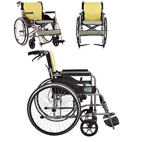 HHRen Tragbare High-Carbon Stahl Multifunktionale faltbaren Rollstuhl, Leicht Griffige Sessel Rollstuhl, tragbarer Transport Reise Stuhl