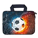 AMARY 11.6' 12' 12.1' 12.5 inch Laptop Handle Bag Neoprene Notebook Carrying Pouch Chromebook Sleeve Ultrabook Case Tablet Cover Fit Apple MacBook Air HP DELL Lenovo Asus Samsung (Soccer)