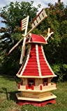 Große Windmühle 1,30 m rot/natur Typ 3