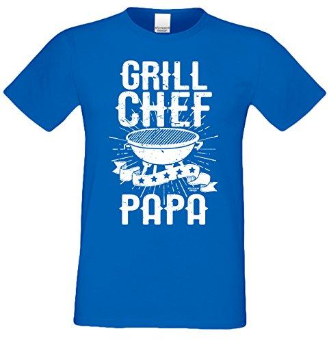 Fun T-Shirt für Männer Motiv Grill Chef Papa - Herren Shirt zum Grillen - lustige Grill Geschenke Gr: XXL