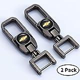 Goshion 2 Pack Keychains for Chevrolet Chevy Car Logo Emblem Key Chain for Impala Camaro Traverse Silverado