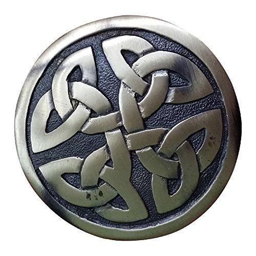 AAR Men,s Scottish Celtic design Kilt Brooch Fly Plaid Antique Finish 2.70' diameter
