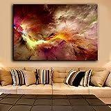 KWzEQ Artista de la Lona decoración del hogar impresión Pintura al óleo Sala de Estar Mural Cartel Abstracto,Pintura sin Marco,60x90cm