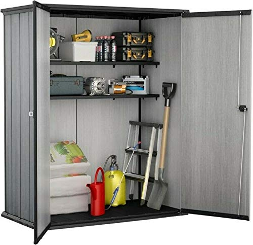 GSD Keter High Plus Store Plus Outdoor Storage Plastic Garden Shed 2 Shelves Now Included With Base