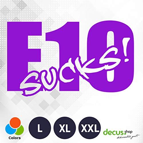 Decus E10 Sucks 1719 // sticker OEM JDM Style sticker XXL (ca. 60x37 cm) paars