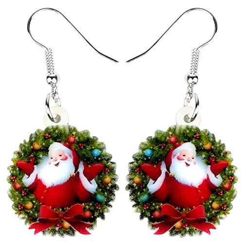 WANGGW Baumeln Ohrringe Schrullig Acryl Anhänger Ohrringe Weihnachtsgirlande Ohrringe Niedlichen Party Dekoration Schmuck Für Frauen Mädchen Teenager