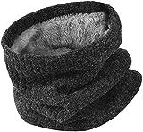 Bufanda Hombre Invierno Snood Infinity Neck Warmer Tubular Loop Bufanda Calentador Caliente de Punto Forro Polar de Cuello Braga Bufanda para Mujer Hombre
