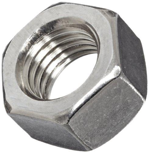 316 Stainless Steel Hex Nut, Plain Finish, ASME B18.2.2, 5/8