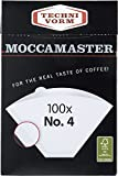 Technivorm Moccamaster #4 White Paper Filters, 100-count per box