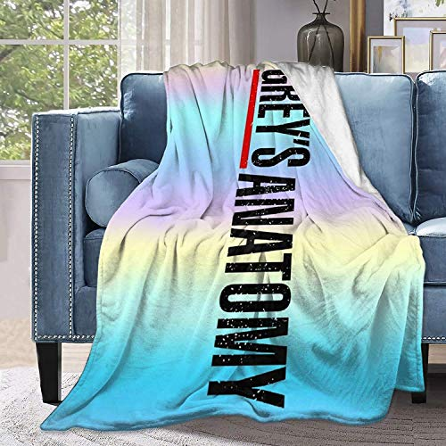 Greys Anatomy Blanket Ultra-Soft Micro Fleece Blanket Home Decor Blanket Fuzzy Warm Throws for Winter Bedding Cozy Couch Bed Soft Warm Plush Quilt for Teen 60x50in