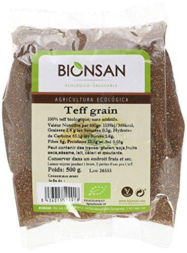 BIONSAN - BIO - Teff Grain 500 g - Lot de 3