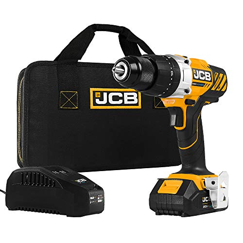 JCB Tools - JCB 20V Hammer Drill Driver - Includes 2.0Ah Battery - 2.4A Charger