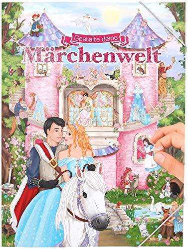 Depesche 11066 - Malbuch mit Stickern, Gestalte deine Märchenwelt, ca. 33 x 25 x 0,5 cm