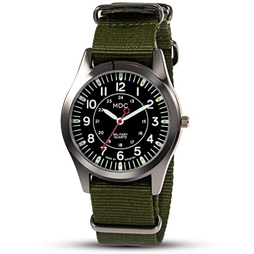 Mens Military Wrist Watch Camper Army Quartz Analogue Watches for Men Field...