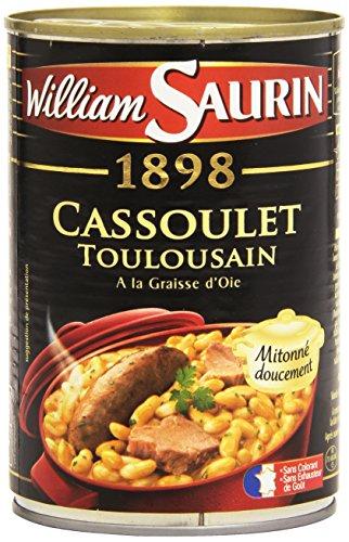 William Saurin Cassoulet Toulousain cuisiné à la graisse d oie - Plat cuisiné, 420g