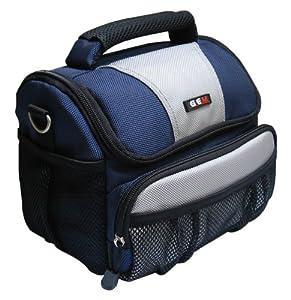 GEM GEM1013CPSX60HS Estuche para cámara fotográfica Cubierta de Hombro Negro, Azul, Gris - Funda (Cubierta de Hombro, Canon, PowerShot SX60 HS, Tirante para Hombro, Negro, Azul, Gris)