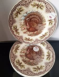 The Victorian English Pottery Thanksgiving Turkey Dinner Plates Set Of 4