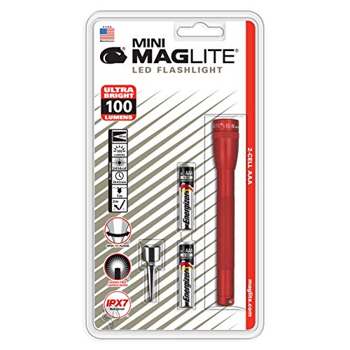 Maglite Mini LED 2-Cell AAA Flashlight Red - SP32036