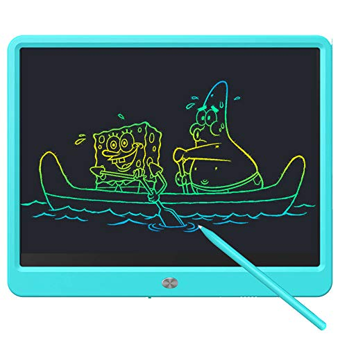 Deecam Tableta de escritura LCD, tablero de dibujo portátil de pantalla grande de 15 pulgadas, tableta gráfica electrónica para niños y niñas, tablero de dibujo con bloqueo de...