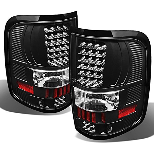 For 2004-2008 Ford F150 F-150 Pickup Truck Styleside Model Black LED Tail Lights...