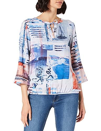 Cecil Damen 342558 Bluse, Provence Blue, XXL