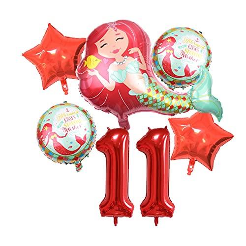 XIAOZSM Globos Globos de lámina de sirpea púrpura roja con número de dígitos de 40 Pulgadas Helio Globo Dibujos Animados Globos Decoraciones de Fiesta de cumpleaños niños o Adultos ( Farbe : Red 11 )