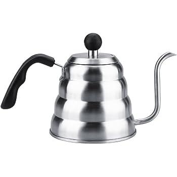 Fdit Cafetera con Termómetro de Acero Inoxidable 304 Vierte Sobre Café Tetera de Cuello de Cisne Tetera Inicio de Goteo a Mano Socialme-eu(1.2L): Amazon.es: Hogar