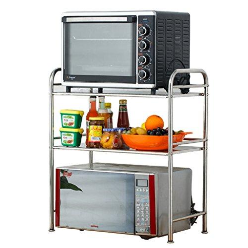 KUN PENG SHOP Küchenregale DREI-Ebenen-Edelstahl-Mikrowelle-Rack/Küche Backofen/Elektrogeräte Regal/Gewürz Gewürzregal/Lagerregal (größe : 35 * 55 * 70cm)
