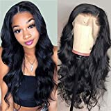 Body Wave Lace Front Wigs Human Hair Pre Plucked with Baby Hair 150% Density Unprocessed Brazilian Virgin Human Hair Lace Front Wigs for Black Women (12inch)