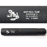 良品武品 【 14mm 逆ネジ 対応 】 Navy SEALs 刻印入り サイレンサー 軽量 アルミ製 φ32mm×199mm