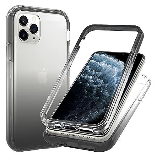 Blllue Funda para iPhone 11 Pro, Slim Fit Transparente a prueba de caídas Protector Duro Transparente con PC Delgado Duro y Marco Flexible TPU para iPhone 11 Pro, Negro