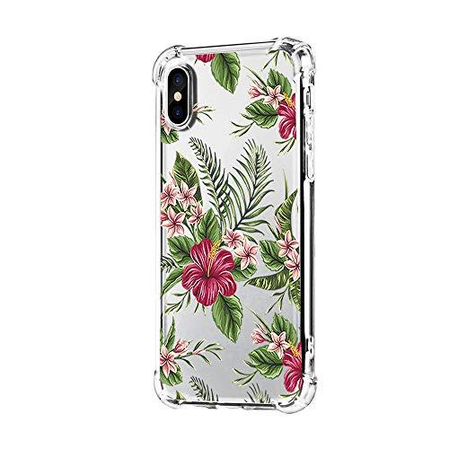 """Neivas Coque iPhone XS/XS Max/XR 2018,Clair Souple TPU Gel Silicone Crystal Transparente Fleur Motif Ultra Mince Anti Choc Protection Étui Housse pour Téléphone iPhone XS Max 6.5"""" (7, iPhone XR)"""
