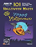 Halloween Maze Book for Kids Ages 4-8: 101 Puzzle Pages. Custom Art Interior. Cute fun gift! Flying Pumpkin. SUPER KIDZ (MS15)