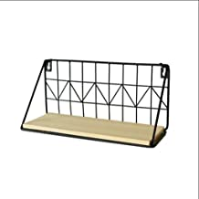 Home decoration display rack/Old Wrought Iron Trumpet Wall Hanging Rack Shelf Partition Wall Storage Rack Display Stand Po...