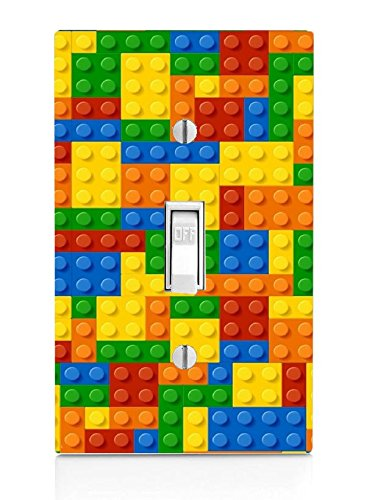 Trendy Accessories Single Toggle Light Switch (Colorful Bricks)