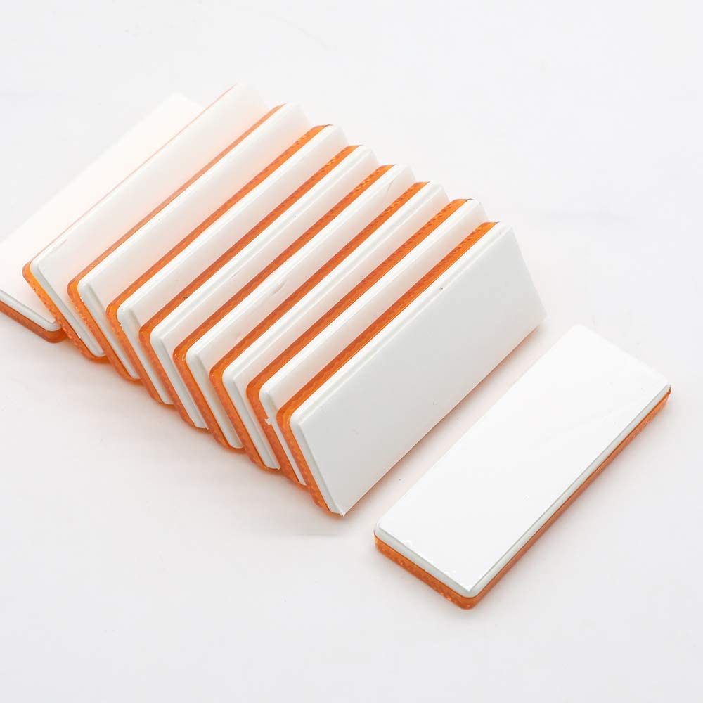 AOHEWEI 10PCS Self Adhesive Reflectors Rectangular Stick-on Oblong Reflectors Rectangular Trailer Caravan Reflectors Suitable for Vehicles Cycle Carriers Fence Gate Posts Red