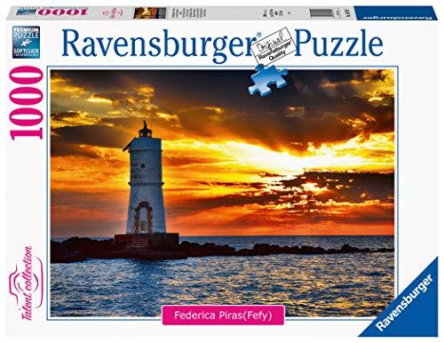 Ravensburger- Faro di Mangiabarche Isola di Sant'Antioco, Sardegna Puzzle da Adulti, Multicolore, 1000 Pezzi, 16195 9