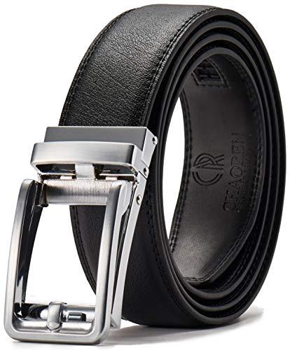 Click Ratchet Belt Dress with Sliding Buckle1 3/8??Adjustable Trim to Exact Fit