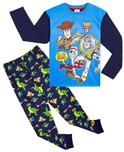 Disney Toy Story 4 Pijama Niño, Pijamas Niños Manga Larga con Personajes Buzz Lightyear Woody y Forky, Ropa Niño de Dormir 100% Algodón, Regalos para Niños 18-24 Meses 2-8 Años (7-8 años)