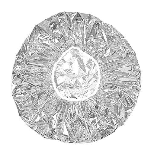 Cuffia Termica Alluminio Cuffia Riscaldante per Capelli Impermeabile Protezione per Capelli Cuffia da Doccia Monouso in Foglio di Alluminio per Doccia Spa Parrucchiere (Argento)