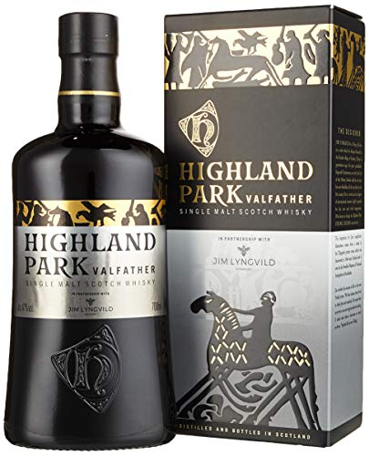 Highland Park Valfather Single Malt Scotch Whisky (1 x 0.7 l) – der intensive und rauchige Whisky, Teil 3 und Vollendung der Viking Legends Trilogie