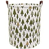 Sanjiaofen Large Storage Bins,Canvas Fabric Laundry Basket Collapsible Storage Baskets for Home,Office,Toy Organizer,Home Decor (Tree)