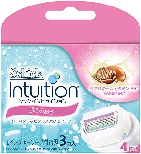 シック Schick イントゥイション 替刃 女性用 カミソリ 肌うるおう(3コ入)