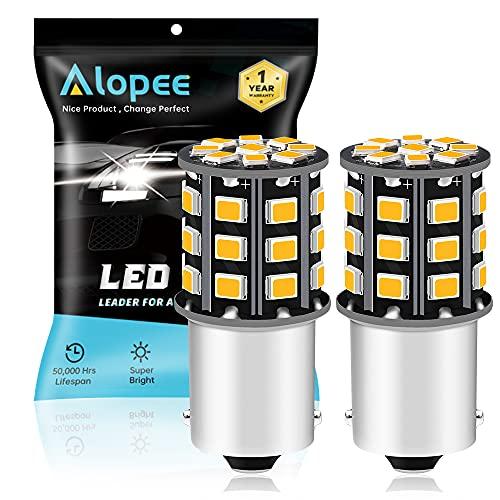 ALOPEE Paquet de 2 1156 BA15S 1141 1073 7506 1003 Ampoules de Clignotants de Voiture - 12V-24V Ampoule/Ampoule de LED 2835 33SMD - Remplacement pour Ampoule LED de Clignotant de Queue