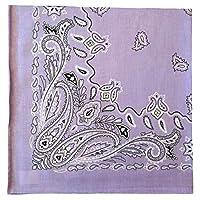 バンダナ ペイズリー 大判 パープル 58cm 日本製 綿100 メンズ バンダナ レディース バンダナ バンダナ ハンカチ スカーフ