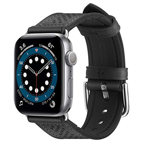 Spigen Retro Fit Pulseira compatível com Apple Watch banda 38mm/40mm Série 7/6/SE/5/4/3/2/1 - Preto