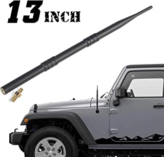 Savadicar 13-inch Stubby Reflex Antenna Replacement for 2007-2019 Jeep Wrangler Jk JL, Metal + ABS, Black